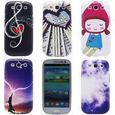 Cartoon Girl Notes Image Hard Back Shell Case Cover for Samsung Galaxy S3 i9300