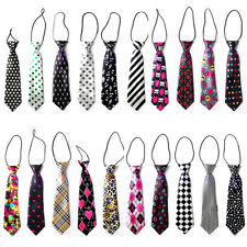 20 Styles New School Boys Kids Children Baby Wedding Party Elastic Tie Necktie