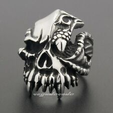 Dragon Claw Skull 316L Stainless Steel Mens Biker 5Ring 6J001 Biker Jewellery