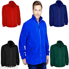 Mens Fleece Jacket Size XS to 4XL Casual Work Fishing Hiking Sports NEW