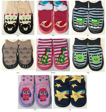 Assorted Character Baby Home Socks / Slippers, 12-24 mths - Bear Bus Car Frog