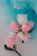 2pc set *PICK Rose COLOR*Corsage&Boutonniere wedding/groom/prom/party/events