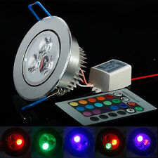 5W LED Ceiling Down Lights Recessed spot lamp Bulbs Red Blue Green RGB AC85-265V