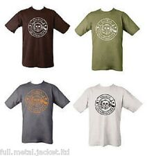 Mens Kombat Army T-Shirt Tee Olive Green with Taliban Hunting Club Funny Motif