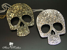Vintage Retro Steampunk Large Skull Necklace