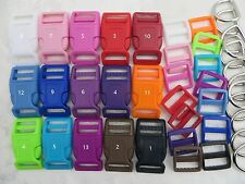 5 Sets, 1'' (25mm) Dog Collar Hardware Kits- 9 color choices