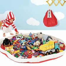 Super Large Mom's Storage Bag Playmat Toys messes cleanup Ideal for Lego, blocks