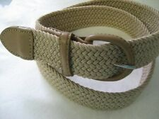 Stretch Belt Men/Women 35mm Wide Matching Color Leather Covered Buckle