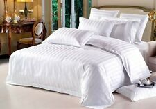 800TC Hotel Brand White Solid/Stripe 100%Cotton US Bedding Starting Price@15.99