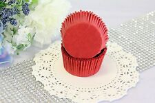 2'' Paper Cupcake Muffin Liners, Greaseproof, Baking Cups, Red, Standard Size