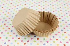 "1-5/8'' x 15/16"" Paper Cupcake Muffin Liners, Baking Cups, Natural, Unbleached"
