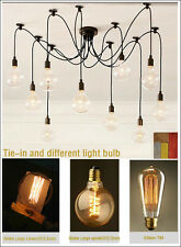 New Vintage Edison10 lights Ceiling Chandelier REMOTE CONTROL lamp free shipping
