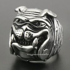 Cute Bulldog 316L Stainless Steel Ring 2X040