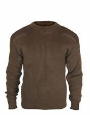 Rothco 5415 Brown Military Army Commando Crew Neck Acrylic Sweater