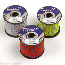 Brand New mini reels of either 2mm or 3mm Kingfisher rope