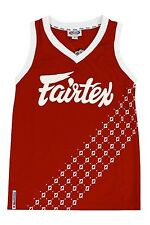 FAIRTEX MMA BASKETBALL JERSEY- JS6 - RED - DOUBLE F NEW STYLE JUST RELEASED L@@K