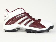 Adidas Scorch Destroy Mid Football Cleats Maroon & White Mens NWT