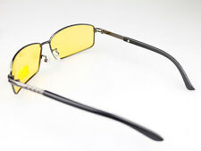 Polarized UV Sunglasses Night Vision Driving Glasses Yellow and Black lens
