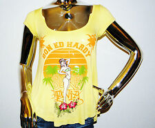 Ed Hardy by Christian Audigier Women's Specialty Circle Top in Yellow - Size XS