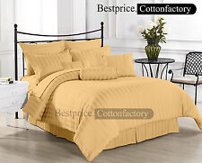 Super Soft Brand New Hotel Gold / Beige Bedding Collection 1200TC 100%Cotton Set