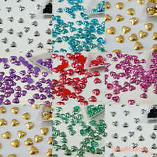 10mm Metallic Colors Heart Shape Flatback Pearl Scrapbook Craft - Gold & Others