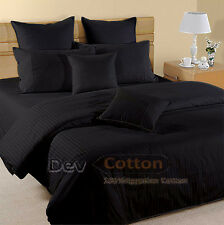 Extra Black Bedding Set Collection 100%Cotton Sheet All Size
