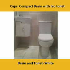 Basin and Toilet- White