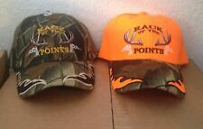 Hunting Cap - Rack Up The Points - Camo or Orange - Adjustable Velcro Strap