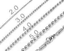 316LStainless Steel Ball Chains Necklaces Beads Chains Necklace N0022. in USA