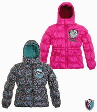 Girls Monster High winter coat quality jacket 7-8-9-10-11-12-13-14 NEW pink grey