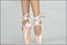 NEW BALLET POINTE SHOES, PINK  COMES WITH RIBBON Satin