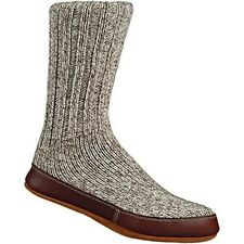 Acorn Slipper Socks Grey Ragg Wool  Mens Womens All Sizes