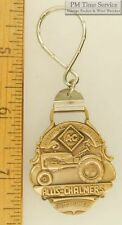 Sturdy silver-toned key chain with a stylized bronze-toned Allis Chalmers shield