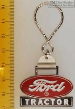 Sturdy key chain with a fancy silver-toned Ford Tractor logo shield