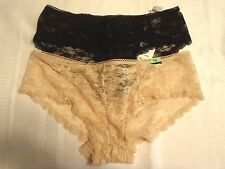 AMBRIELLE Size 6 7 8 9 Black or Beige Lace Cheeky Panty Choice NWT