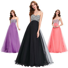 2013 Beaded Sweetheart Formal Bridesmaid Prom Ball Evening Long Dress Party Gown