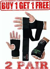Evo Elasticated GEL Inner Gloves Boxing Bag Hand Wraps MMA Grappling Martial Art