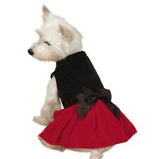 Black and Red Velvet Female Dog Dress with Bow by Zack & Zoey UM6632