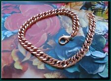 Solid Copper Anklet CA652G - 1/4 of an inch wide - Available in 8 to 11  inches