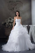 2013 New White / Ivory Wedding Dress Custom Size 6 +8 +10 +12 +14 +16 + + +