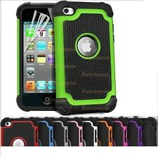 Shock Proof Dual Layer Silicone & Hard Case Cover For Apple iPod Touch 4 4th Gen