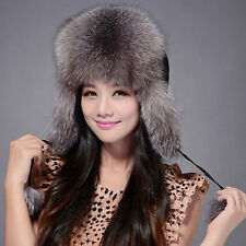 Hot women' cap Russian Ushanka/Cossack Real fox fur or racccoon fur hat 060101