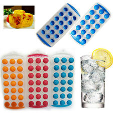 ASSORTITI ICE CUBE VASSOIO facile Ice Cube Maker PLASTICA SILICONE PARTY JELLY MUFFA