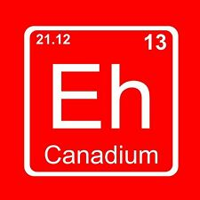 Ladies CANADIUM ELEMENT EH SHIRT canada funny science chemistry nerdy WOMENS tee