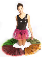 Girls Netted dance TUTU skirt! Child's & Adult! Pink, Red, Orange Neon halloween