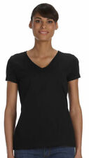 Fruit of the Loom Women's Fit Double Needle Short Sleeve V Neck T-Shirt. L39VR