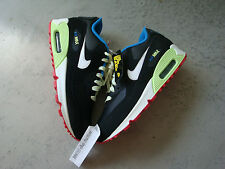 "Nike Air Max 90 ""Glow in the Dark"" GS sz 5.5 to 7 black infrared dqm london 1 fb"