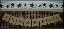 ~THANKFUL ~ Burlap Banner/Garland ~ Thanksgiving Fall Autumn Holiday Decoration