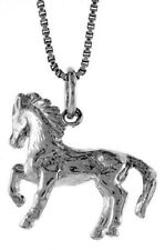 925 Sterling Silver 17mm Tall Chinese Zodiac Pendant for Year of the Horse