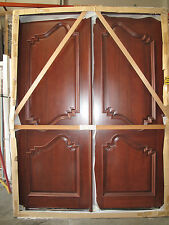 Black Friday Deal Mahogany 8ft Exterior Double Door Pre-hung&Finished, DCH8613 R